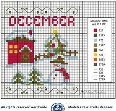 Dicembre ... Ultimo schema gratuito per il calendario perpetuo   DMC