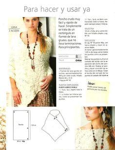 Resultado de imagen para knitting loom plus-size poncho patterns Crochet Granny, Crochet Shawl, Knit Crochet, Loom Knitting, Knitting Patterns, Crochet Patterns, Poncho Patterns, Crochet Clothes, Diy Clothes