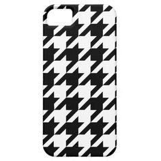 Black and White Hounds Tooth iPhone 5/5s Case