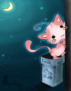 Trash cat by blackdiamons.deviantart.com on @deviantART