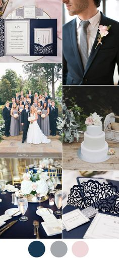 Navy blue, nude, champagne, ivory and blush | Our wedding!! in 2018 ...