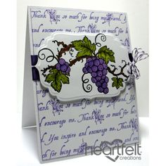 Gallery | Scripted Thank You Grape Clusters - Heartfelt Creations