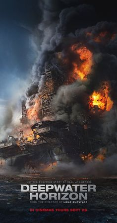 DEEPWATER HORIZON Directed by Peter Berg, starring Mark Wahlberg, Kurt Russell, John Malkovich, Kate Hudson. Reenactment of events leading up to the catastrophic Deepwater Horizon oil rig disaster in Hard hitting.
