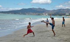 Musical Soccer on the beach