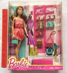 Barbie Brunette Teresa Fashionista Doll 7 shoes 3 Bags Accessories Closet NEW #Mattel #DollswithClothingAccessories