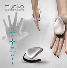 The Munivo concept will deal with the idea of a hand map – For the blind