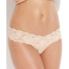 Cosabella Never Say Never Cutie Low Rise Thong NEVER03ZLVBOW ($24) ❤ liked on Polyvore featuring intimates, panties, blush, low rise thong, bow thong, lace thong, lacy thong and cosabella