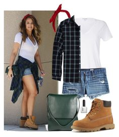 A fashion look from February 2014 featuring white v neck t shirt, AG Adriano Goldschmied and timberland boots. Browse and shop related looks. Casual Skirt Outfits, Simple Outfits, Chic Outfits, Fashion Outfits, Women's Fashion, Fashion Ideas, Fashion Spring, Winter Fashion, Luxury Fashion