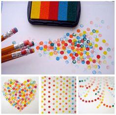 pencil eraser stamping