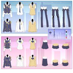 Imasen Uniforms by Yuumaai on DeviantArt School Blazer, School Uniform Outfits, School Uniforms, Uniform Ideas, Make A Character, Character Outfits, All Girls School, Anime Uniform, Character Template