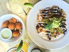 Happy Hour Nachos and Jalapeno Croquetas at Tortilla Republic