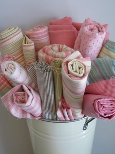 fabric ~~ I love fabrics....I collect them....but the ideas I have for them never do seem to materialize!!! (pun!)