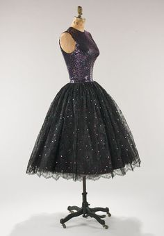 Norman Norell cocktail dress, owned by Lauren Bacall, 1955.