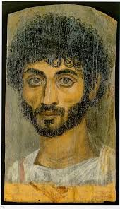 These beautiful Fayum mummy portraits are naturalistic painted portraits on wood placed on mummies in Egypt. They belong to the tradition of panel painting, one of the most highly regarded forms of art in the Classical world and date from from the late 1st century BC onwards. It is not clear when their production ended, but recent research suggests the middle of the 3rd century.