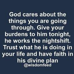 Keep your faith in the Lord! #GodIsAble #GoodNight #Lovethysistahs #GodCares #TrustGod #WorkItOut #Faith #Divine #Nightshift ✨