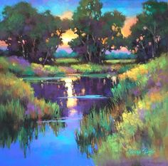 Pastel Landscape, Landscape Artwork, Abstract Landscape, Beautiful Paintings, Beautiful Landscapes, Impressionism Art, Impressionist, Pastel Art, Nature Photography