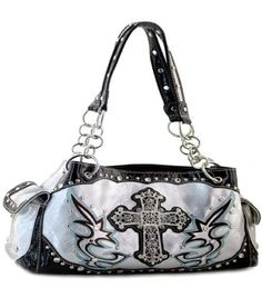 Silver Rhinestone Cross Handbag HBM http://www.amazon.com/dp/B0095XH77W/ref=cm_sw_r_pi_dp_pp02vb044FEXG