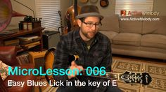 MicroLesson:006 - Guitar lessons that are 1 minute or less! In this MicroLesson I'll show you how to play an easy blues lick in the key of E. To view all weekly…