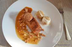 Terina comprimata de mere sos caramel Caramel, Dessert Recipes, Desserts, French Toast, Sweets, Baking, Breakfast, Unt, Food