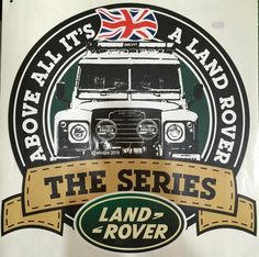 Sticker Pintu Land Rover The Series Uk : 42.5x42.5 cm 1 set = 2 buah (kiri kanan) Rp. 135.000- /set
