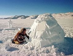 Activity: go to the snow and build an igloo with your students- later write about it... perhaps a poem? Inuit