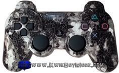 Digital Arctic Camo DualShock 3 PS3 Controller - KwikBoy Modz      #kwikboymodz #ps3 #ps3controller #camops3controller #arcticcamo #snowcamo #moddedcontroller #customcontroller