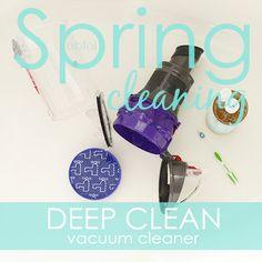 Day 30 Deep Clean vacuum cleaner via A Bowl Full of Lemons