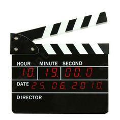 Incrível Relógio Digital Claquete de Cinema