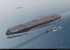 There have been actual submersible craft capable of launching aircraft, but none allowed the plane to land back on the carrier. Description from mwrigh12.cgsociety.org. I searched for this on bing.com/images