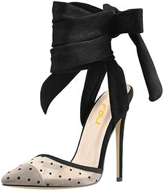 Women High Heel Ankle Strap Sandals Pointed Toe Rivets Pumps PVC Club Shoes with Studs Size 4-15 US.As an Amazon Associate I earn from qualifying purchases. Sofft Shoes, Women's Shoes, Shoe Sole Protector, Light Blue Shoes, Club Shoes, Ankle Strap Sandals, Black Pumps, Womens High Heels, Studs