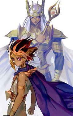 Yami yugi with Herald of creation duel monster