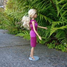 Woolhelmina's Fibonacci Barbie : One of a set of three Barbie dresses. The pattern includes a mini-tutorial for using Fibonacci Numbers.