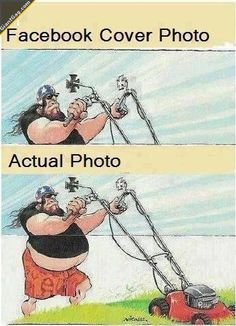 Hilarious Pictures of the week, 99 pics. Cover Photo Vs Actual Facebook Photo