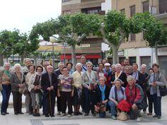 El grupo en la Plaza de la Magdalena