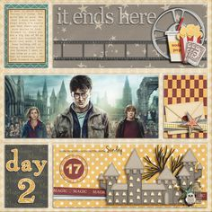 for all muggles - cute movie layout Scrapbook Examples, Disney Scrapbook Pages, Scrapbook Sketches, Baby Scrapbook, Scrapbooking Layouts, Harry Potter Disney, Harry Potter Theme, Harry Potter Love, Harry Potter Scrapbook