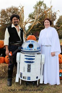 Our Homemade Han, Leia, and R2D2 Costumes