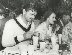 Clark Gable and Carole Lombard attend the annual M-G-M picnic, 1938