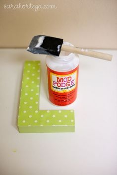 How to for paper-covered paper mache letter.