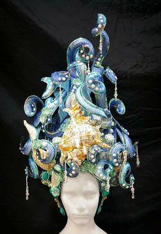 Large Sea Shells, Fantasy Hair, Fantasy Makeup, Sea And Ocean, Showgirls, Headgear, Headdress, The Little Mermaid, Pageant