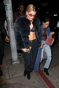 Sofia Richie from The Big Picture: Today's Hot Photos Fab in faux! The starlet is seen leaving the The Nice Guy for the campaign launch party wearing jeans. Night Outfits, Cool Outfits, Fashion Outfits, Womens Fashion, Fashion Tips, Stylish Outfits, Sofia Richie, Festival Outfits, Hottest Photos