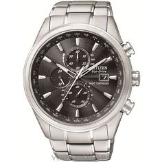 Mens Citizen World Chronograph A-T Chronograph Radio Controlled Eco-Drive Watch AT8010-58E
