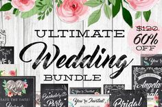 Posted by @newkoko2020 Massive Chalk Wedding Bundle 60% off by Lucion Creative on @creativemarket