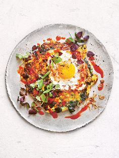 Fried Eggs With Corn Fritters And Chilli Sauce | Donna Hay