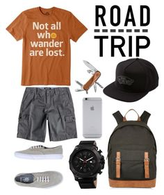 """Road Trip"" by tammy-gardner on Polyvore featuring Quiksilver, Life is good, Vans, Joshua & Sons, River Island, Victorinox Swiss Army, Native Union, men's fashion, menswear and roadtrip"