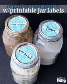 Printable Mason Jar Labels - Becoming Martha