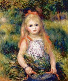 1888 Renoir Girl with Flowers(Museu de Arte de São Paulo)