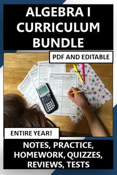 """Engage your students with the """"I Try You Try"""" Algebra 1 or 8th grade curriculum bundle. Includes notes, practice, homework, quizzes, reviews, and tests. Topics include solving multi-step equations and inequalities, literal equations, functions, function notation, graphing and writing equations, slope, domain, range, direct variation, systems, exponents, polynomials, quadratics, exponential functions, arithmetic and geometic sequences and more! #Algebra 1 #8th grade # curriculum #bundle Math Resources, Math Activities, Solving Linear Equations, Literal Equations, Secondary Math, 8th Grade Math, Algebra 1, Math Lessons, Curriculum"""