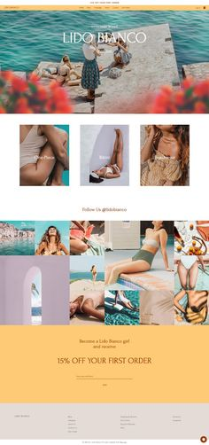 Swimwear Brand | Website Template