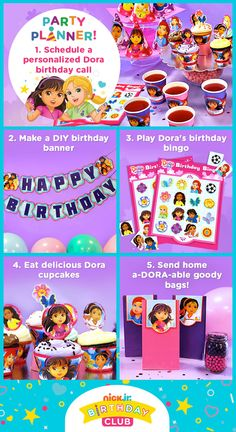 Plan the perfect Dora and Friends birthday party!