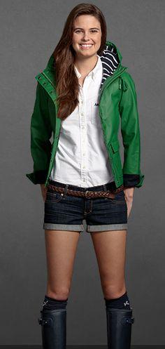 love the green rain jacket